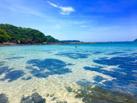 自然のままの茂串白浜海水浴場