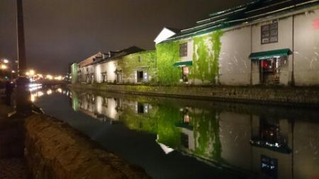 運河沿いを散歩