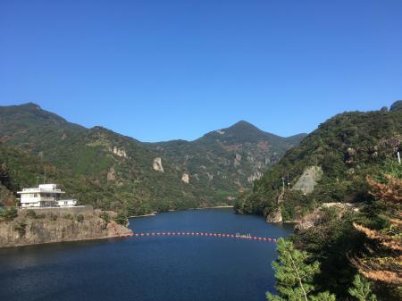 竜門ダムの風景です