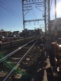 恵我ノ荘駅付近、線路沿い