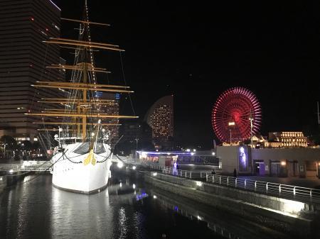 歴史ある船と近未来