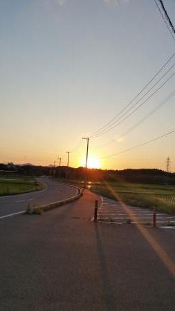 舘沢の夕焼け