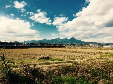 リバートピア吉岡から見た榛名山。