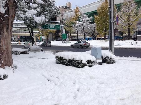 雪の日の大須