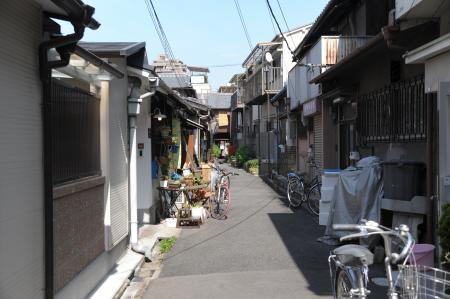 中崎町の路地裏
